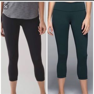 Lululemon reversible cropped leggings